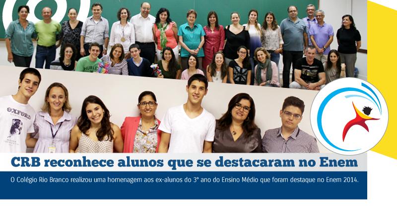 CRB homenageia alunos que se destacaram na Redação do Enem