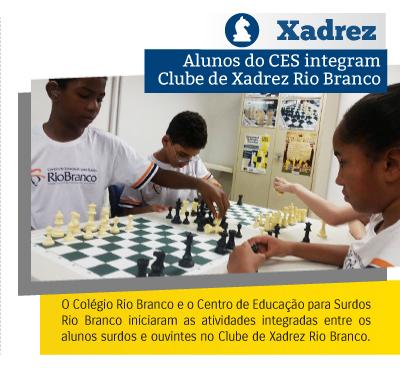 Alunos do CES integram Clube de Xadrez Rio Branco