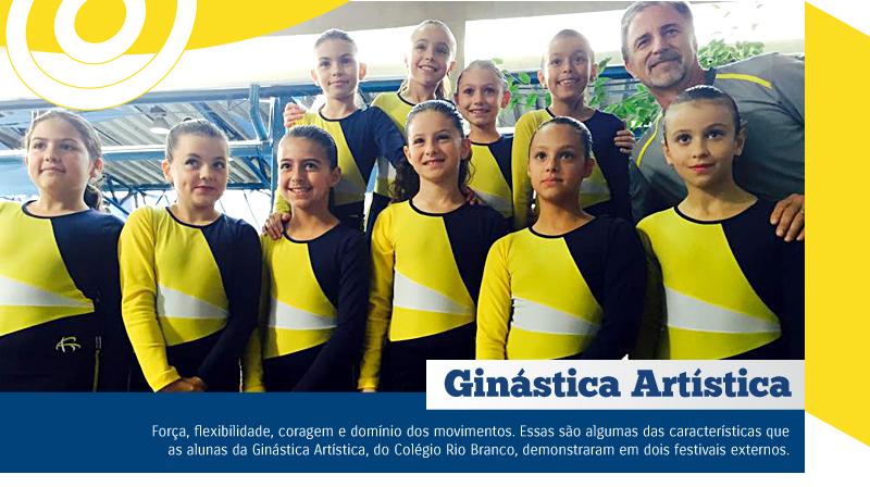 Alunas participam de Festivais de Ginástica Artística
