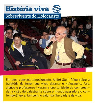 Colégio Rio Branco recebe sobrevivente do Holocausto
