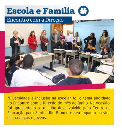 Escola e Família - Encontro com a Direção