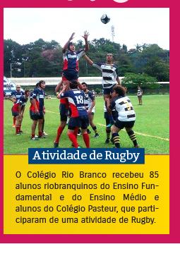 Atividade de Rugby no Colégio Rio Branco