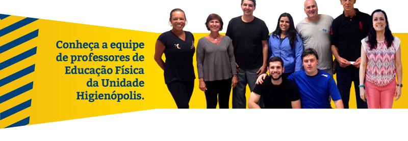 Conheça a equipe de professores de Educação Física da Unidade Higienóplis