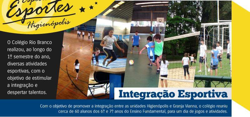 Alunos participam de Integração Esportiva