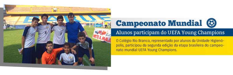 Campeonato Mundial - Alunos participam do UEFA Young Champions