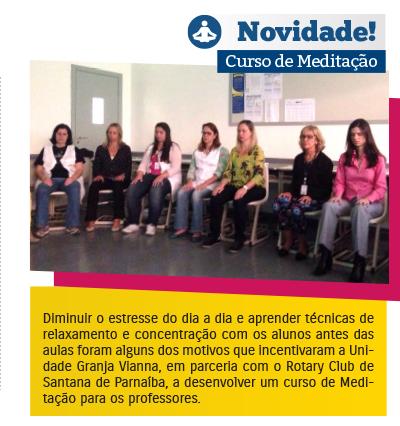 Colégio Rio Branco promove Curso de Meditação para professores