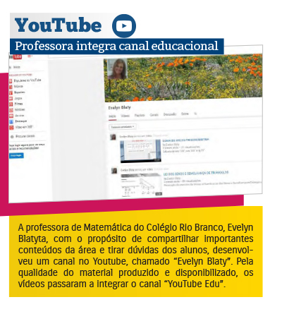 Professora integra canal educacional do YouTube