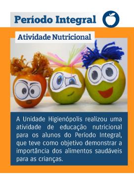 Período Integral - Atividade Nutricional