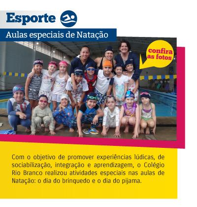 Esporte - Aulas especiais de Natação