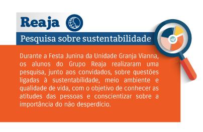 Reaja - Pesquisa sobre sustentabilidade