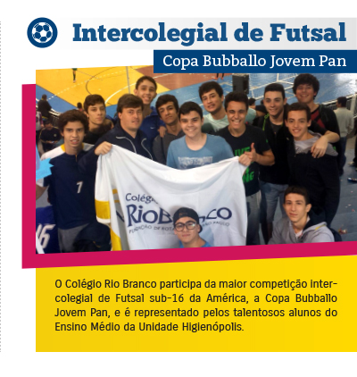 Intercolegial de Futsal - Copa Bubballo Jovem Pan