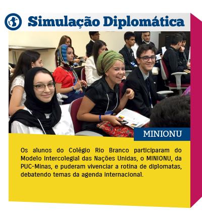 Alunos participam do MINIONU e ampliam conhecimentos sobre temas internacionais