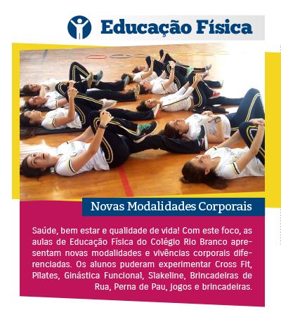 Novas Modalidades Corporais na aula de Educação Física