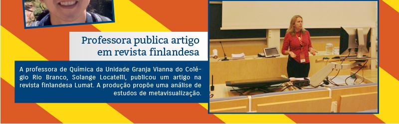 Professora publica artigo em revista finlandesa