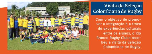 Visita da Selação Colombiana de Rugby