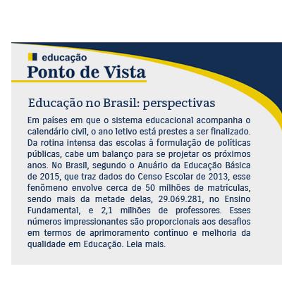Educação no Brasil: perspectivas