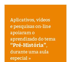 Aula especial de História no Laboratório de Tecnologia Aplicada