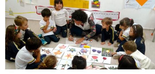 Green Club do Período Integral: aprendendo sobre as flores