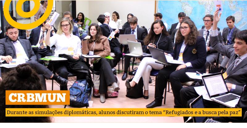 Simulações Diplomáticas do CRBMUN discutem situação dos refugiados no mundo