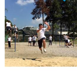 Aula de Atletismo na Educação Física