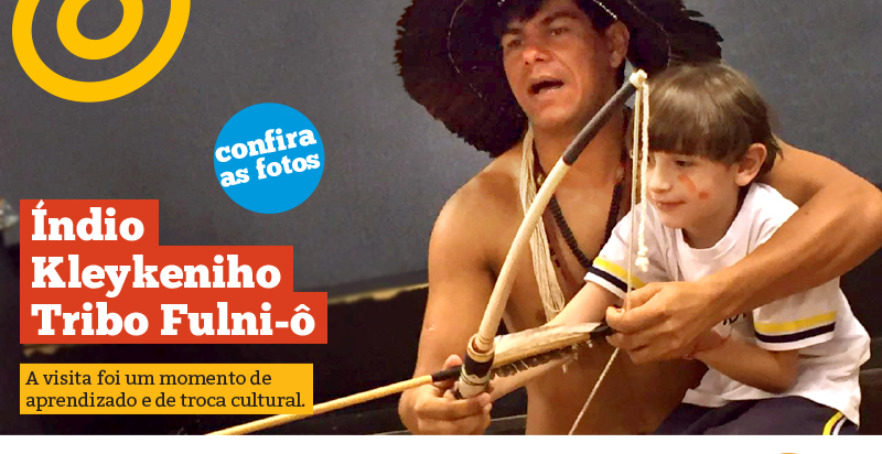 Cultura e aprendizado: visita do índio Kleykeniho da tribo Fulni-ô