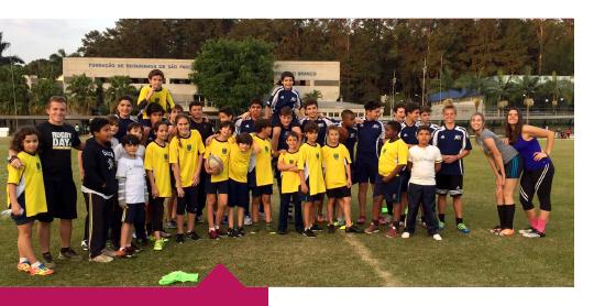Alunos do Rugby recebem visita