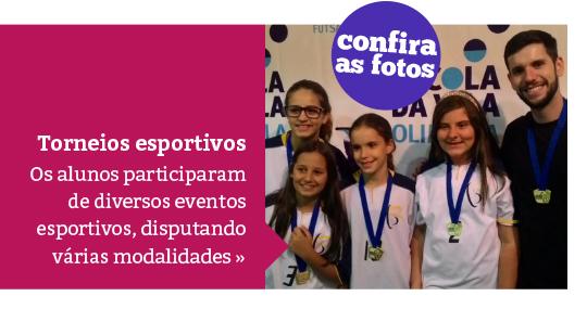 Eventos esportivos mobilizam os alunos em diversas modalidades