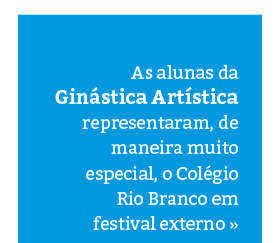 Alunas participam de Festival de Ginástica Artística