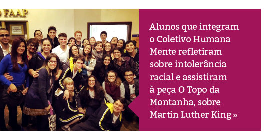 """Humana Mente: alunos assistem ao espetáculo """"O Topo da Montanha"""""""
