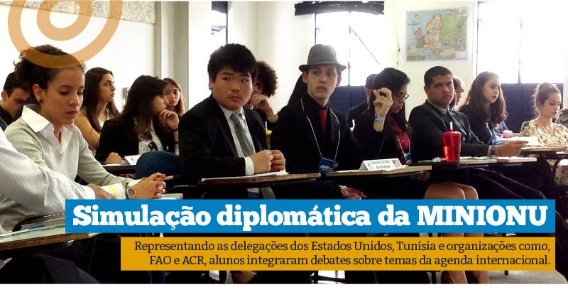 MINIONU: alunos integram simulações diplomáticas