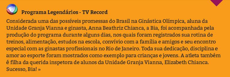 Programa Legendários - TV Record