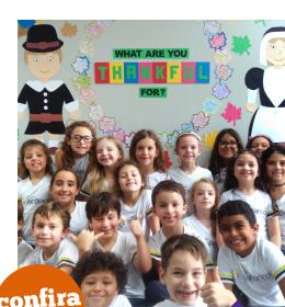 Thanksgiving Day: alunos aprenderam sobre o Dia da Ação de Graças