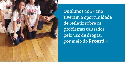 Proerd: conscientização e prevenção ao uso drogas