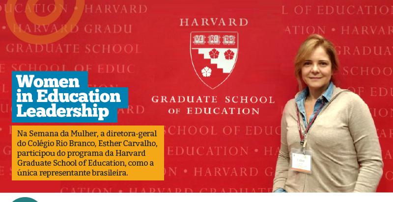 Diretora-geral participa do programa Women in Education Leadership