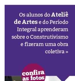 """Ateliê de Artes: alunos constroem a obra """"O Tronco"""""""