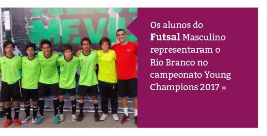 Alunos representam o Rio Branco na Young Champions 2017