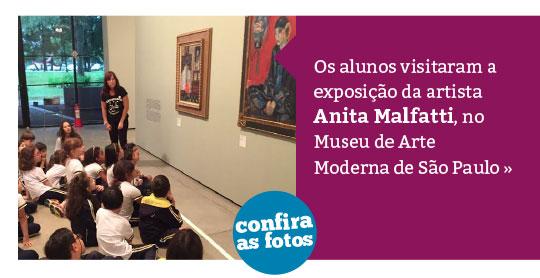 Alunos visitam exposição de Anita Malfatti no MAM