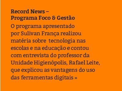 Record News - Programa Foco e Gestão