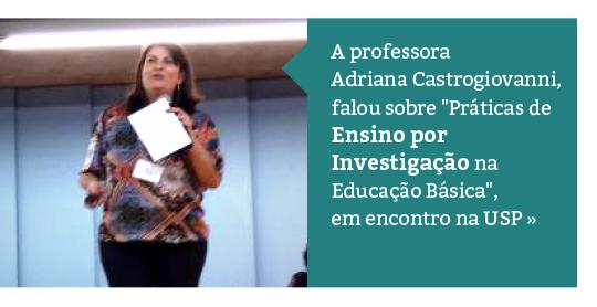 Professora integra encontro de Ciências por Investigação da USP