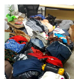 Ação de solidariedade reúne mais de mil peças de roupas para doação