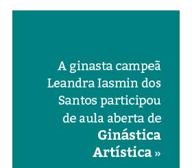 Ginástica Artística: aula especial com ginasta campeã