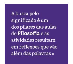 Saiba mais sobre as aulas de Filosofia no Rio Branco