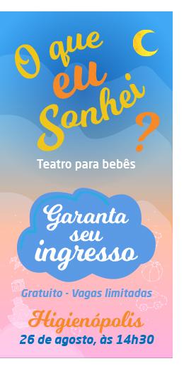 """Colégio Rio Branco oferece teatro para bebês: """"O que eu sonhei?"""""""