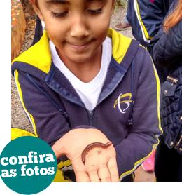 Período Integral: alunos conhecem o projeto Dedinho Verde