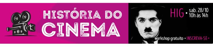 Workshop gratuito - História do Cinema