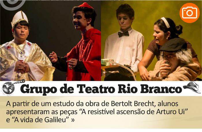 Grupo de Teatro Rio Branco apresenta peças de Bertolt Brecht