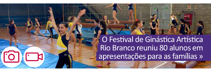 O Festival de Ginástica Artística Rio Branco reuniu 80 alunos em apresentações para as famílias.