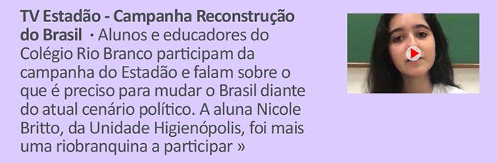 TV Estadão - Campanha Reconstruindo o Brasil
