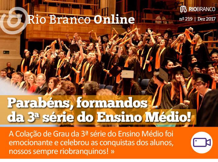 Rio Branco Online nº 219 - Colação de Grau da 3ª série do Ensino Médio