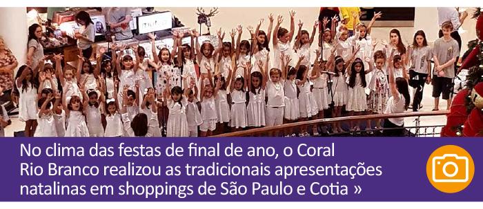 Coral Rio Branco realiza lindas apresentações natalinas